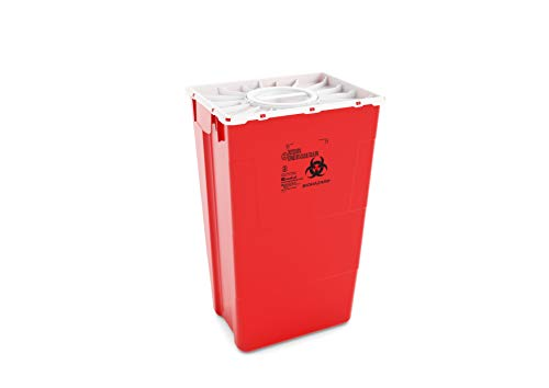 AP Medical 60 Liter/18 Gallon (7 Pack) Biohazardous Sharps Waste Container, Duo Hinge Lid