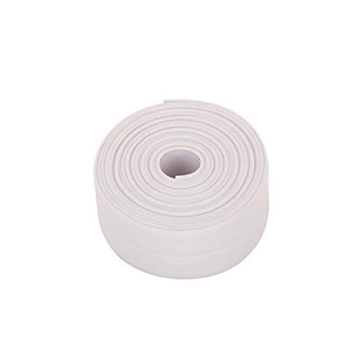 FANMU, nastro adesivo super impermeabile, nastro adesivo in PVC per cucina, bagno, bagno, doccia, lavandino, stufa a gas, angolo parete, 0,86 x 122 cm, bianco, 2.2cm*320cm