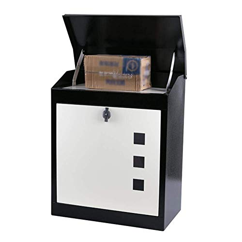 Afsluitbare mailbox Mailbox Brievenbus Post Box Home Aanbiedingen Staal Met slot outdoor Household waterdicht Anti-diefstal Grote ontvangst Met slot Visual venster Roestvrij staal mailbox
