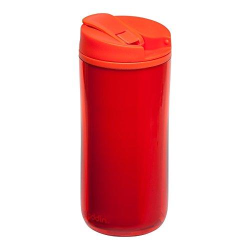 Aladdin Flip Gobelet à paupières Double Paroi Isotherme, 0,35 l, Plastique, 7,6 x 7,5 x 17,5 cm, Plastique, Tomate, 4 x 4 cm