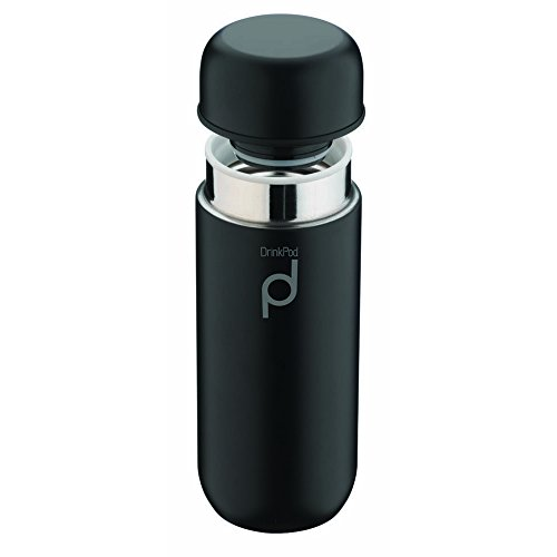 Pioneer Thermos DrinkPod in Acciaio Inox, 18/10, Nero , 0.2 l