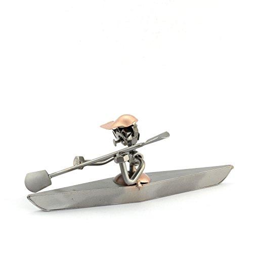 Steelman24 Schroevenmannetje kajak I Made in Germany I Handwerk I Geschenkidee I Stalen figuur I Metalen figuur I Metalen figuur I Metalen mannetje