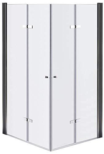 Glas Falttür Duschkabine Faltwand Duschabtrennung Duschtür Duschwand versch. Ausführungen Sanlingo, Typ:Matt, Größe:70 x 70 x 190 cm