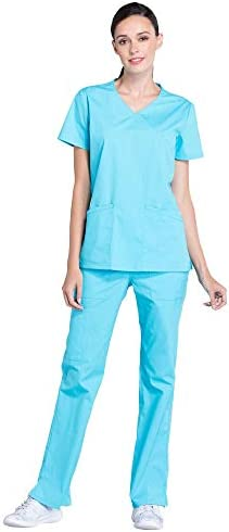 CHEROKEE Workwear Professionals Women s Mock Wrap Scrub Top WW655 Women s Drawstring Scrub Pants product image
