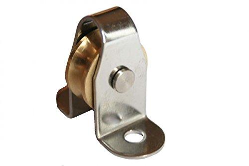 ARBO-INOX® - Stehblock - Edelstahl - Messingrolle - durch Bolzen austauschbar - für Tau 6mm