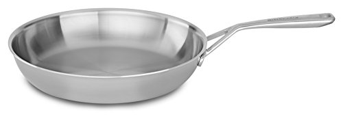 "KitchenAid Tri-Ply 12"" Skillet, Stainless Steel, Medium"