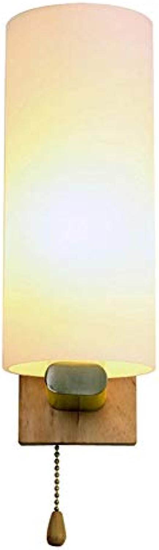 Vintage Wandleuchte Nachtlicht Holz + Glas E27 Sockel AC110-240V Für Schlafzimmer Foyer Wohnzimmer Dekorieren Sie die Wnde