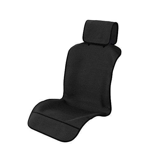 TanYooカーシートカバー防水前席用軽/普通車適用ずれにくいSBRボンディングシート保護ブラックフロント1枚