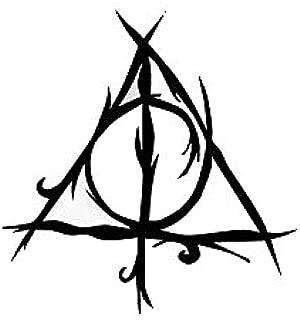 Calcomanía de Vinilo Negro de Harry Potter de Las Reliquias de la ...