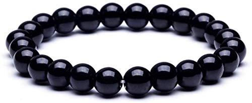 AnimeFiG Pulsera de Piedra Mujer, 7 Chakra Perlas de Piedra Natural de obsidiana joyería elástica joyería Yoga inspiración del Encanto difusor Mujer Pulsera Regalo para un Amigo