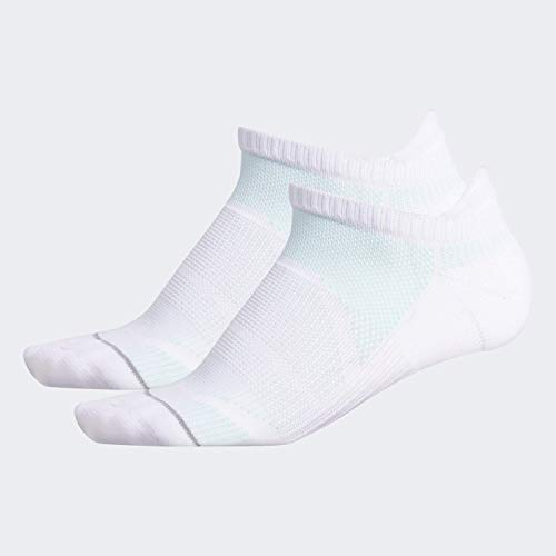 adidas Damen Superlite Prime Mesh III No Show (2er-Pack), Damen, Socken, Women's Suprelite Prime Mesh Iii No Show (2-pack), Weiß/ Klares Grau/ Clear Mint/ Light Onix, Medium