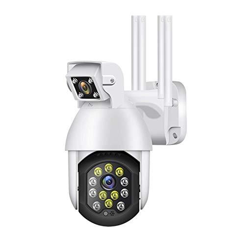 Cámara de vigilancia inalámbrica, cámara dual para exteriores, WIFI 1080P con audio, detección de movimiento, grabación de video desconectada, resistente al agua, admite almacenamiento en la nube