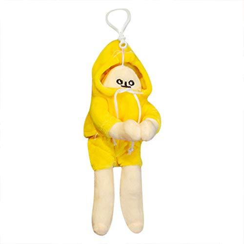 Lucaso 韓国風、バナナ人形、ぬいぐるみ、枕、装飾品、人形、ドレッシングバナナ人形、ドレス人形誕生日プレゼント、女の子ギフト、バレンタインデープレゼント 19ED (S, イエロー)