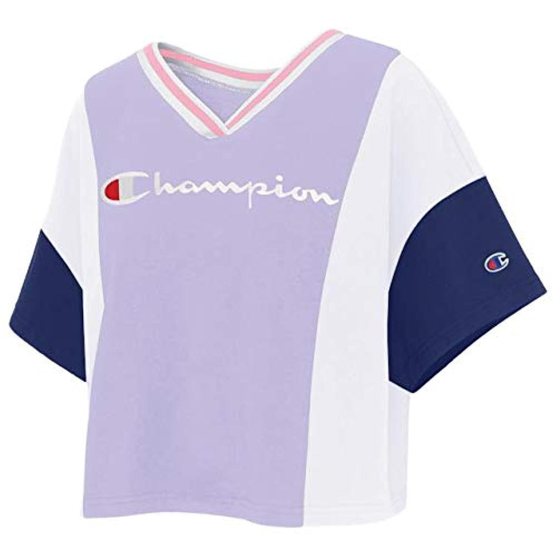 (チャンピオン)Champion Colorblock Crop T-Shirt レディース Tシャツ [並行輸入品]
