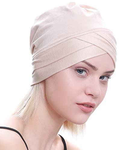 Deresina Headwear Deresina W Baumwollmütze für Chemo (Beige)