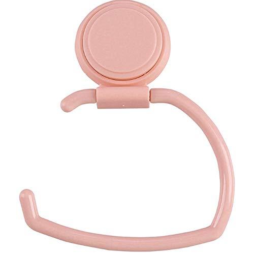 Wand-Handtuchhalter Tissue Shelf Küche Bad Roll Rack unter Schrankwand Aufbewahrungsbügel Kleinigkeiten Organizer Pink