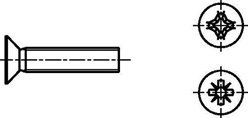 Dresselhaus Vis de 4,8 avec croix fente verticale H, M 6 x 60 mm, galvanisé, 200 Pièces