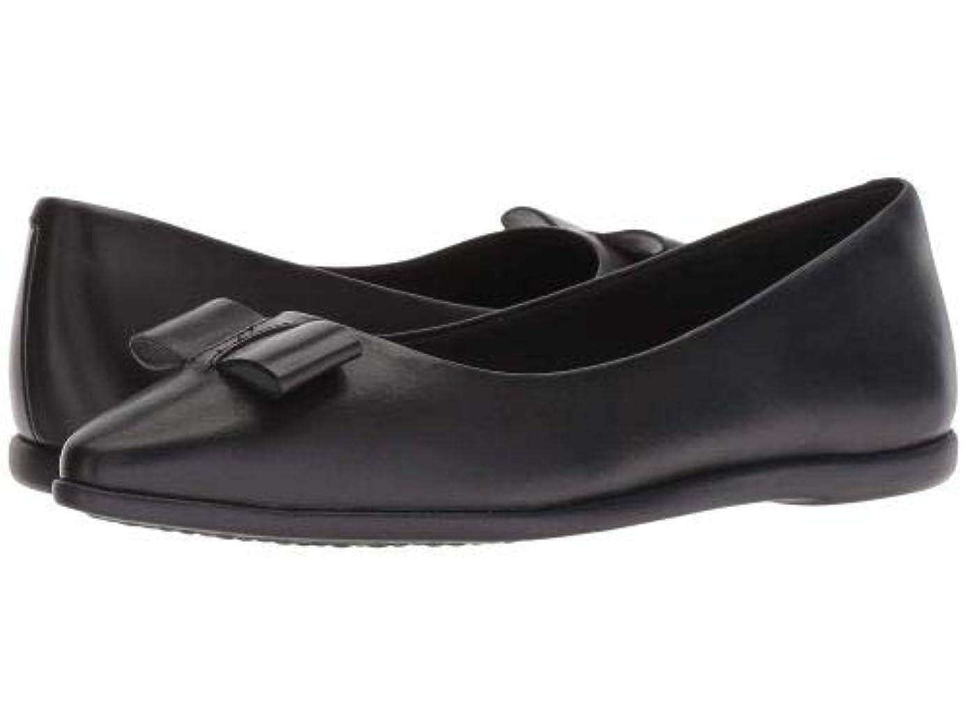 贅沢なビュッフェ動的Cole Haan(コールハーン) レディース 女性用 シューズ 靴 フラット 3.Zerogrand Bow Skimmer - Black Leather [並行輸入品]