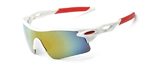 Embryform Gafas Deportivas, Gafas De Ciclismo, para Esquiar Golf Riding Conducir Pesca Senderismo y Todo Gafas De Sol Deportivas Gafas De Sol Pro protección Caja