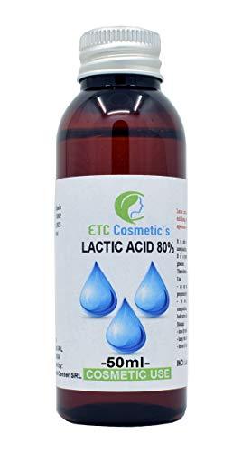 LAKTISCHE SÄURE 80% (LACTIC ACID 80%) - 50 ML - pH-Wert-Kontrolle, Haut-, Körper- und Haarpflege, Peeling-, Verjüngungs- und Aufhellungsbehandlungen, Keratolytikum, Peeling der Haut