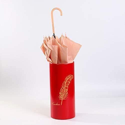 HEWEI Paraplu Stand PVC Paraplu Emmer Golf Club Opslag Emmer Main Woonkamer Bloem Emmer Kantoor (Kleur: Rood Maat: B)