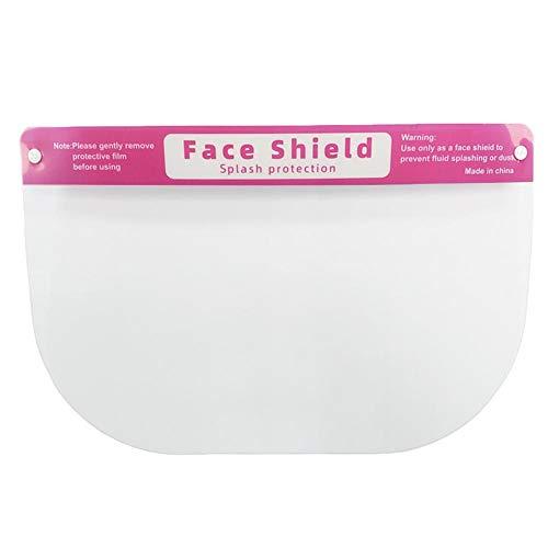 flouris 2 Stück Schutzschild Gesichtsschutz Visier Transparente Schutzhelm wiederverwendbar Gesichtsschutzschild Full Face Shield Anti-Rauch verstellbar Gesichtsschutzschirm für Erwachsene Kinder