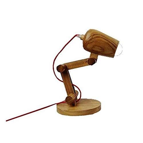 YWSZJ Simple lámpara de Mesa de Madera, Dormitorio lámpara de cabecera Iluminación Decorativa Lámpara de Mesa de los hogares