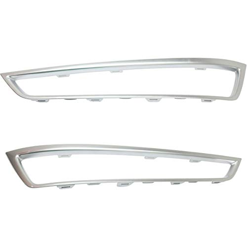 New Replacement for OE Set of 2 Grille Trims Grill Driver & Passenger Side LH RH fits Acura MDX Pair
