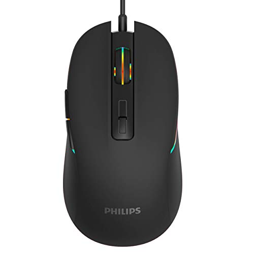 PHILIPS RGB Wired Gaming Mouse, 7 Programmable Buttons,...