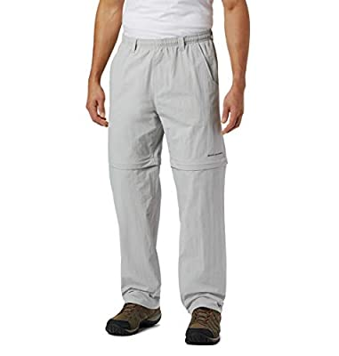 Columbia Men's Backcast Convertible Pant, Cool Grey, Mediumx34