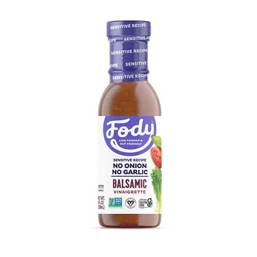 Fody Foods Balsamic Vinaigrette Salad Dressing | Low FODMAP Certified | Gut Friendly No Onion No Garlic | IBS Friendly Kitchen Staple | Gluten Free Lactose Free Non GMO