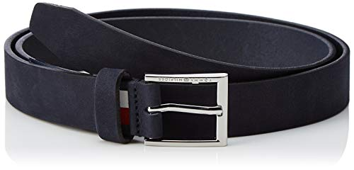 Tommy Hilfiger heren FORMAL SUEDE BELT 3.0 riem, blauw (tommy navy 413), 676 (fabrieksmaat:100)