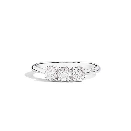 Recarlo Anello Trilogy con Diamanti in Oro Bianco Anniversary