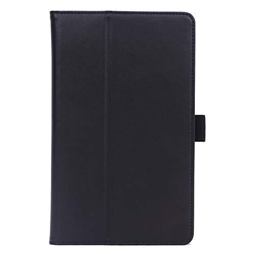ISIN Premium PU-Leder Schutzhülle Tasche Stand Cover für Huawei Mediapad M6 8 8.4 2019 VRD-AL00 VRD-W09 VRD-AL09(Nicht für M5 8.4, M3 8.4,M6 10.8) 8,4-Zoll-Android-Tablet-PC(Schwarz)