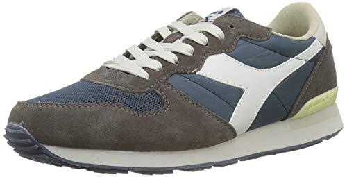 Diadora Camaro, Sneaker a Collo Basso Unisex – Adulto, Multicolore (Blu Insegna/Grigio Pellicano), 39