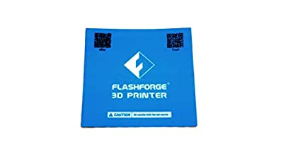 Flashforge Finder Inventor II Build Plate Platform Sticker Sheet Blue Print Bed