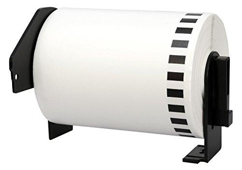 DK-22243 102 mm x 30,48 m Endlosetiketten Papier kompatibel für Brother P-Touch QL-1050, QL-1050N, QL-1060N, QL-1100, QL-1110NWB Etikettendrucker