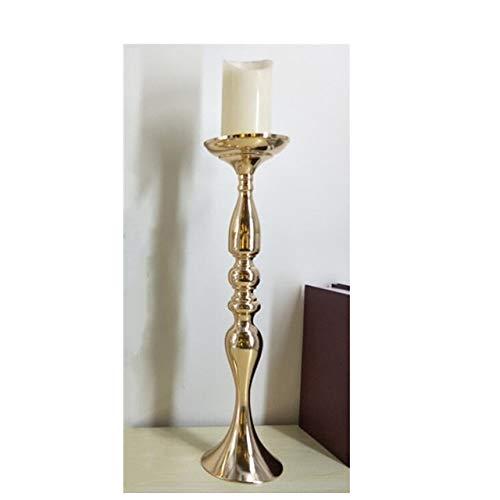 ANH19 - Portacandela Dorato, 50 cm, per 20 candelieri in Metallo, da Tavolo, centrotavola, per Eventi, Matrimoni, Decorazioni