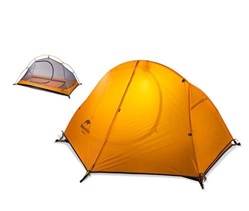 Egurs veldcamping eenpersoons tent, draagbaar dubbel regendicht en winddicht altralight tent set voor rijden rugzak