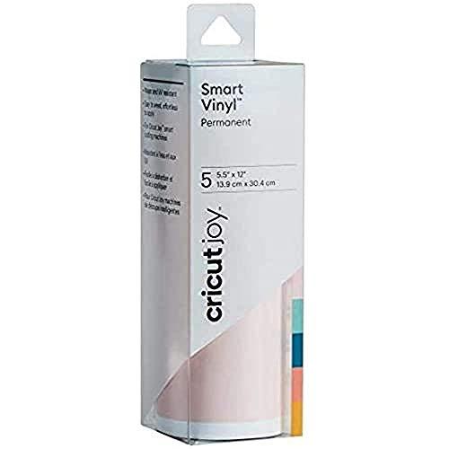 "Cricut Joy Smart Vinyl - Permanent - 5.5"" x 12"" (5) - Adhesive Decal Sheets - Beachside Sampler"