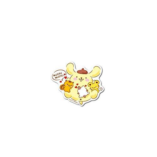ポムポムプリン ミニステッカー むぎゅむぎゅ キャラクターステッカー サンリオ イラスト かわいい 人気 LCS1352 gs 公式グッズ