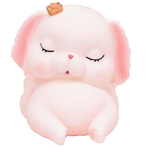 Kassa MYKK Cartoon Roze Varken Spaarpot Leuke Hond Beeldje Met Kroon Tafel Ornament Mooie Konijn Doos 15 * 12.5 * 14.5 cm Stijl 3