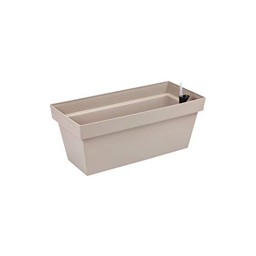 Fioriera vaso per piante Cube Case con sistema d'irrigazione, capacità 8 Lt , colore: taupe