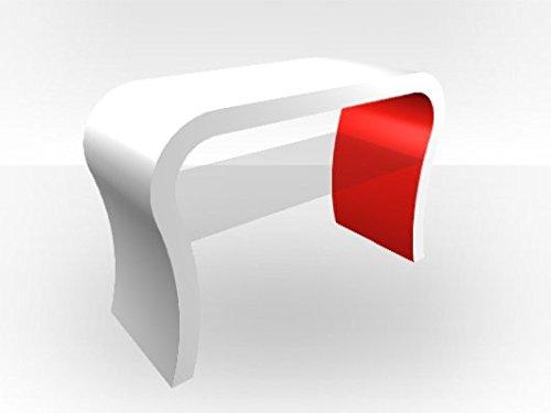 Zespoke Außen Weiß Gebogen TV Ständer rot glänzend