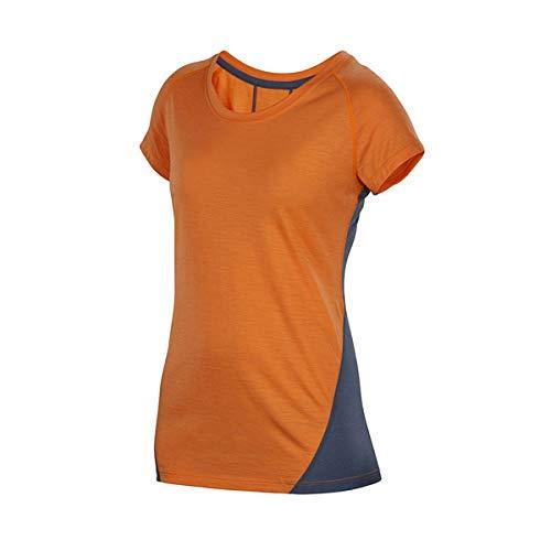 アイベックス(ibex) 【Merino Wool】メリノウール ウィメンズ W2 スポーツシャツ/Orange Pop (XS)