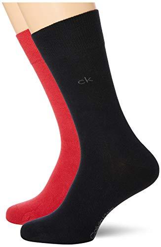 Calvin Klein Socks Mens Herren Sneakersocken ECP275, 2er Pack, Schwarz, 43/46 Socks, red Combo, 39/42