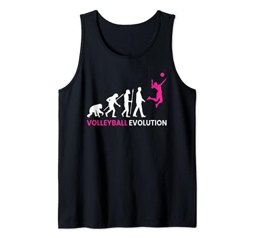 Regalo divertido de jugador de voleibol de evolución Camiseta sin Mangas 🔥