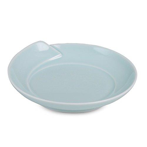 白山陶器 取り皿 青白釉 (約)φ15.5×3.5cm  ひとえ 波佐見焼 日本製