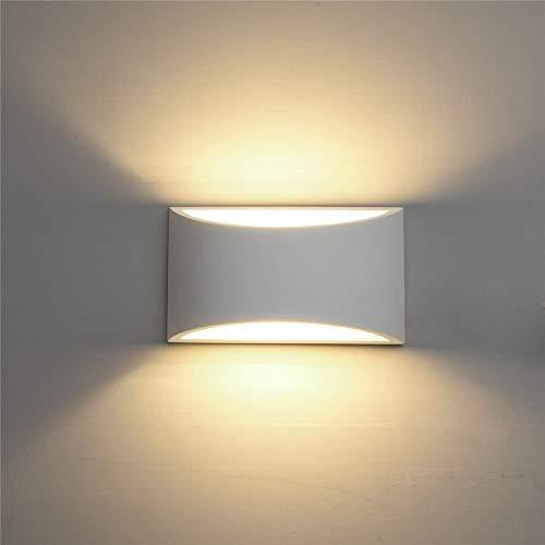 NBLYW Moderne led-wandlamp in warmwit 2700 K op en omlaag van gips voor binnenruimtes voor slaapkamer Corridoio Home Office Hotel