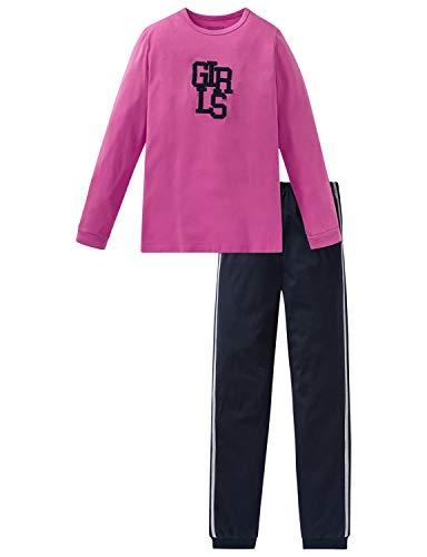 Schiesser Mädchen Anzug lang Zweiteiliger Schlafanzug, Rot (Pink 504), (Herstellergröße: 164)